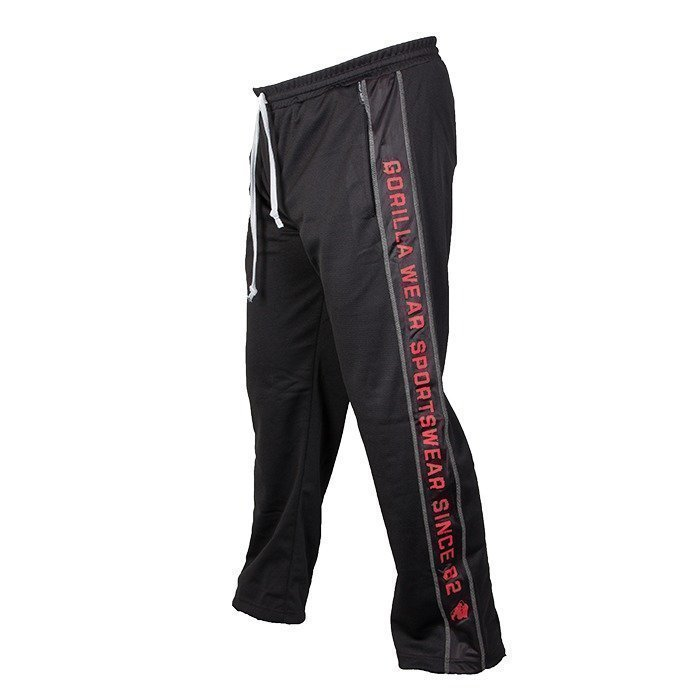 Gorilla Wear Functional Mesh Pants black/red