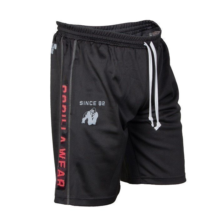Gorilla Wear Functional Mesh Shorts black/red L/XL