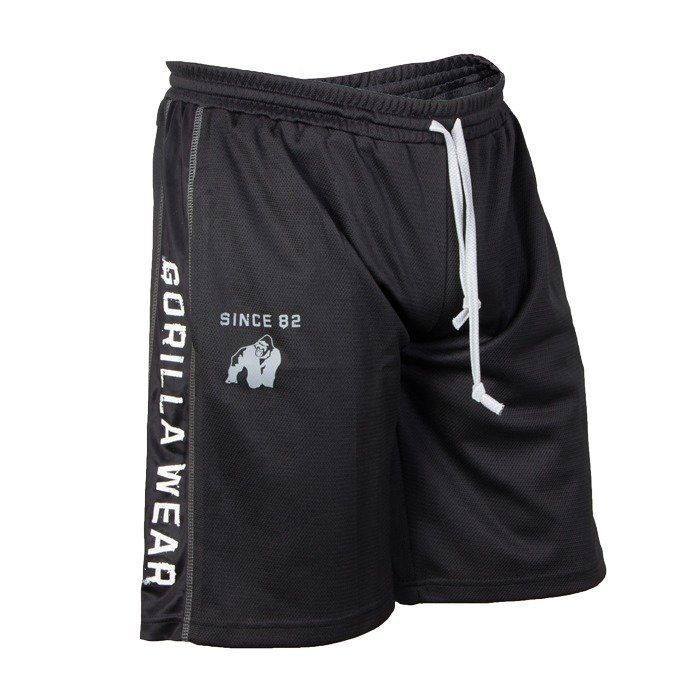 Gorilla Wear Functional Mesh Shorts black/white S/M