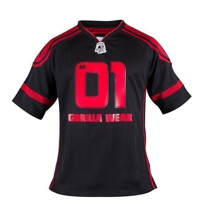 Gorilla Wear GW Athlete Tee black/red 3XL