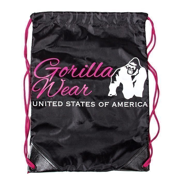 Gorilla Wear GW Drawstring Bag black/pink