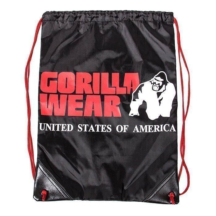 Gorilla Wear GW Drawstring Bag black/red