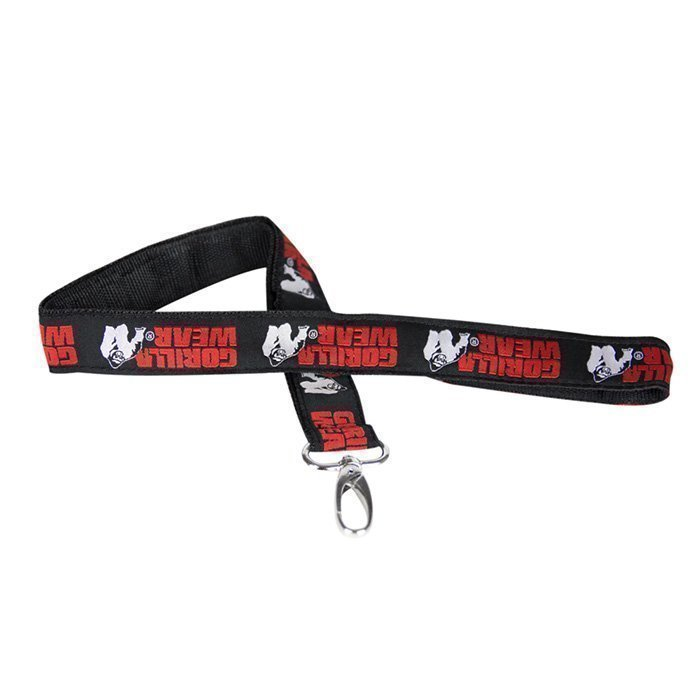 Gorilla Wear GW Lanyard black/red
