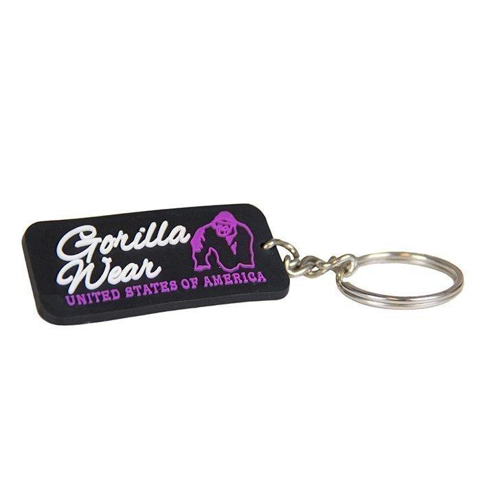 Gorilla Wear GW Rubber Logo Keychain black/pink