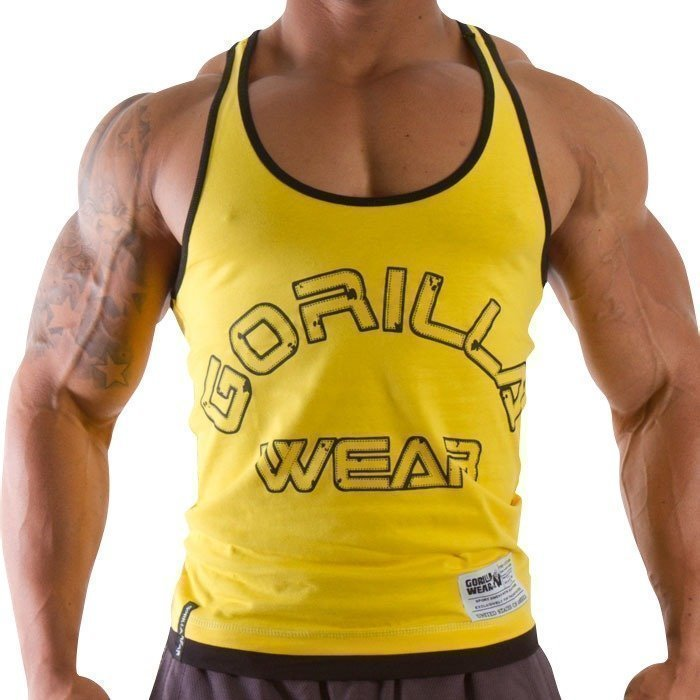 Gorilla Wear Logo Stringer Tank Top yellow S