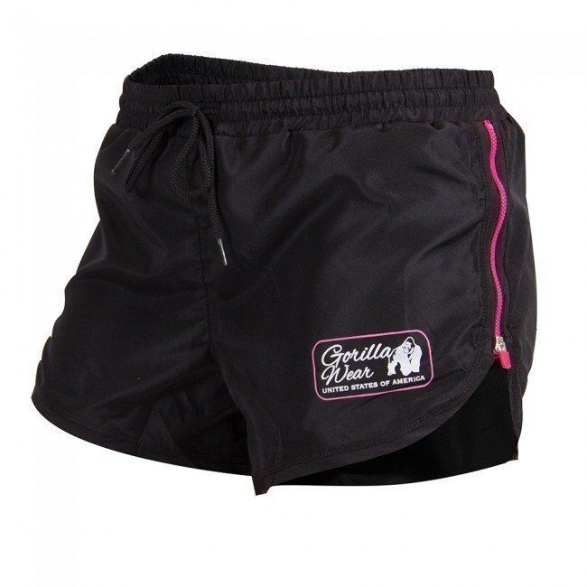 Gorilla Wear New Mexico Cardio Shorts Black/Pink XS