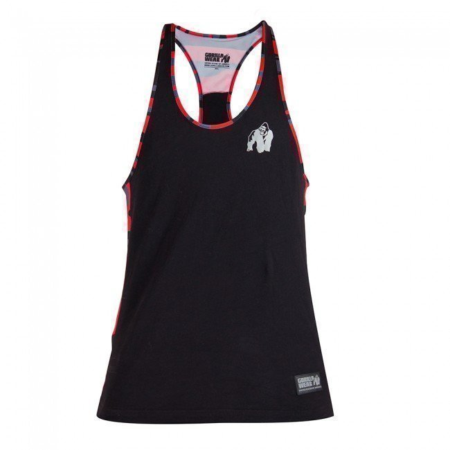 Gorilla Wear Sacramento Mesh Tank Top Red/Black XXL