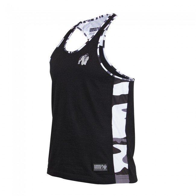 Gorilla Wear Sacramento Mesh Tank Top White/Black L