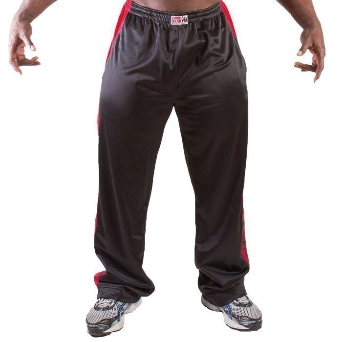 Gorilla Wear Track Pants black/red S/M