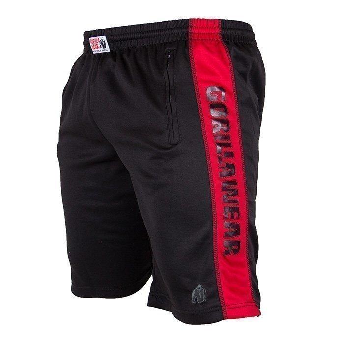 Gorilla Wear Track Shorts black/red