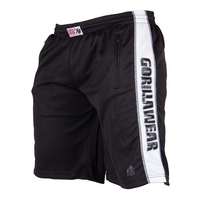 Gorilla Wear Track Shorts black/white S/M