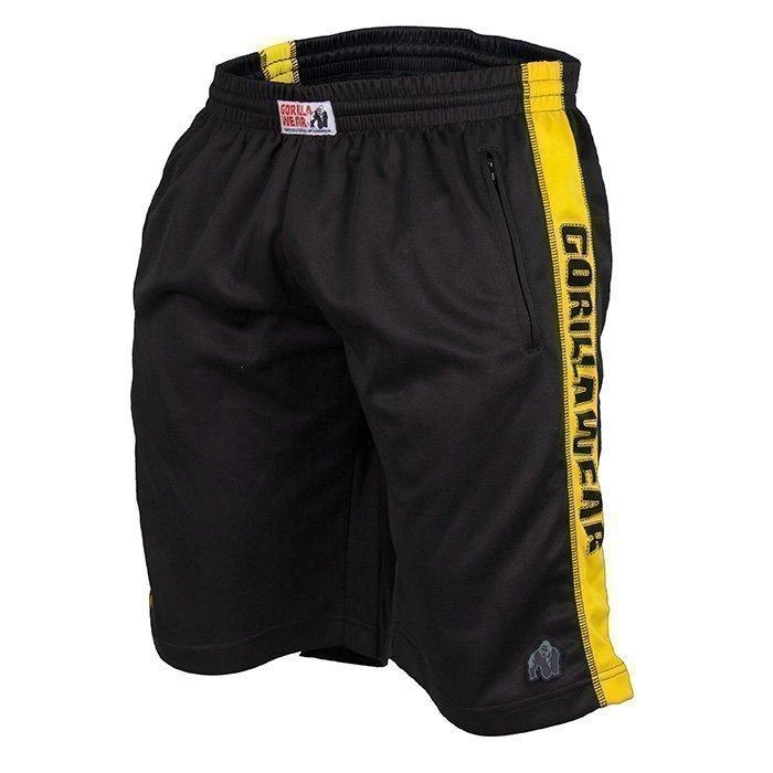 Gorilla Wear Track Shorts black/yellow XXL/XXXL