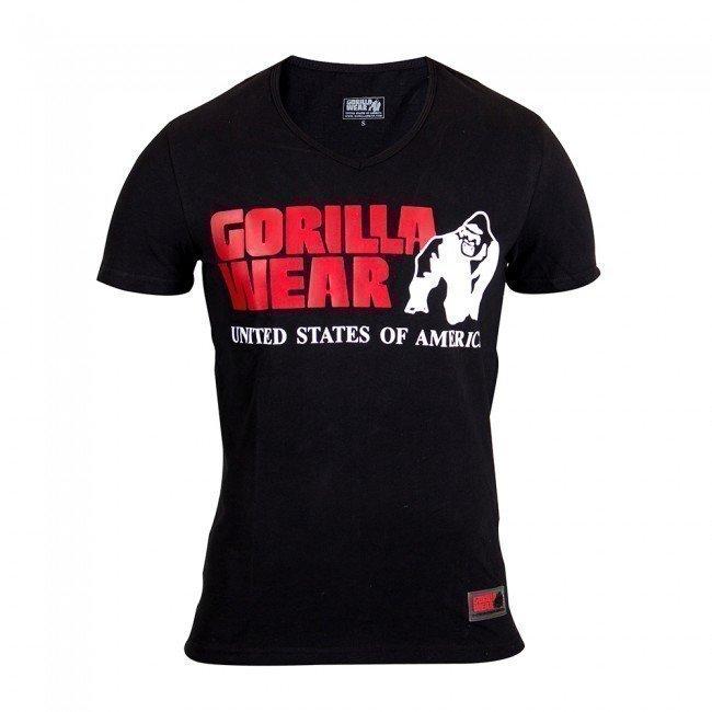 Gorilla Wear Utah V-Neck Tee Black L
