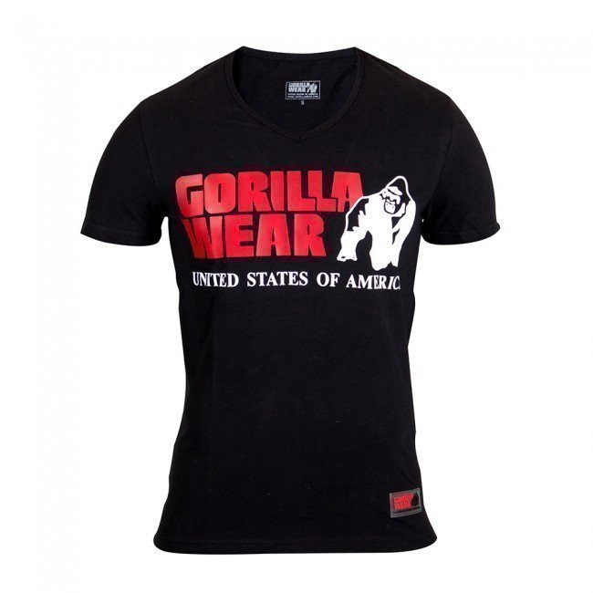 Gorilla Wear Utah V-Neck Tee Black XL