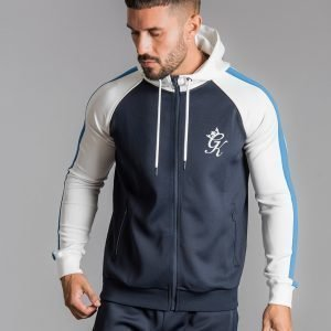 Gym King Colour Block Poly Full Zip Huppari Laivastonsininen