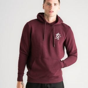 Gym King Fleece Overhead Hoodie Burgundy
