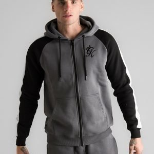 Gym King Full Zip Poly Huppari Harmaa