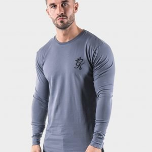 Gym King Long Sleeve T-Shirt Harmaa