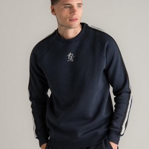 Gym King Peyton Tape Crew Sweatshirt Sininen