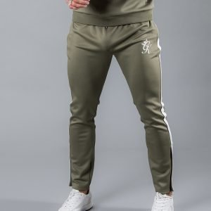 Gym King Poly Track Pants Khaki / White