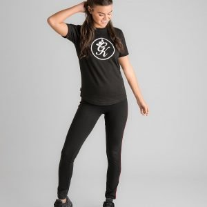 Gym King Tape Logo Leggings Musta