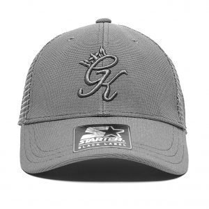 Gym King Trucker Cap Tummanharmaa