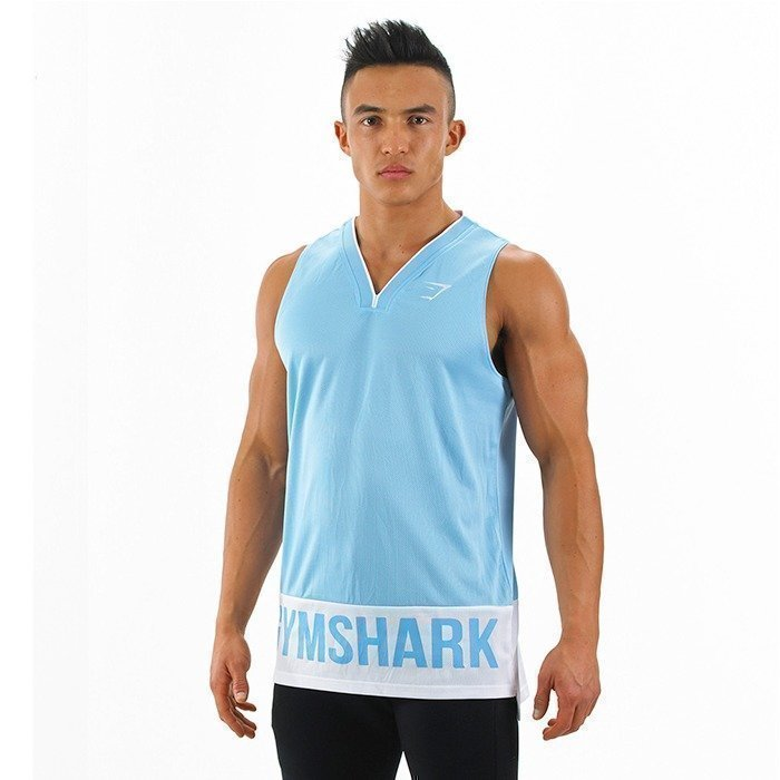 Gymshark Court Jersey Blue/White S