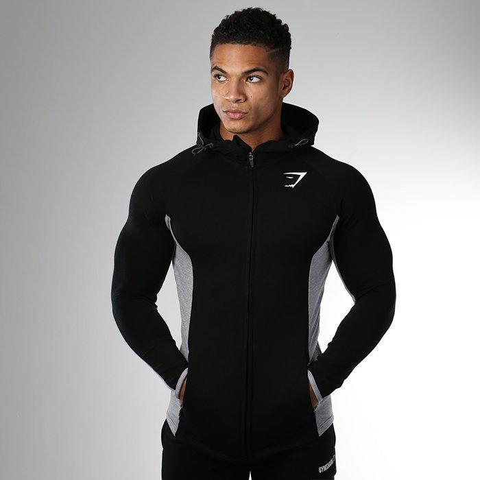 Gymshark Fit Hodded Top Black/Grey