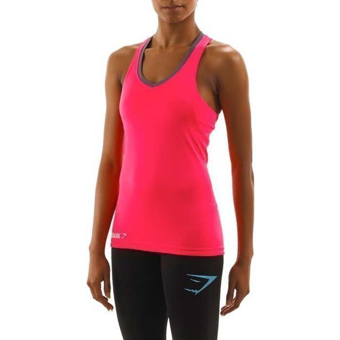 Gymshark Fit Tie Back Tank Top Pink M