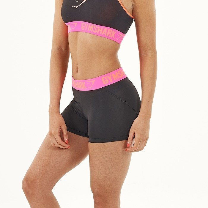 Gymshark Form Shorts Black/Hot Pink