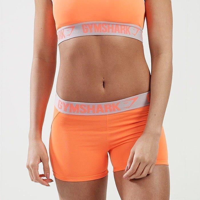 Gymshark Form Shorts Coral/Grey XS