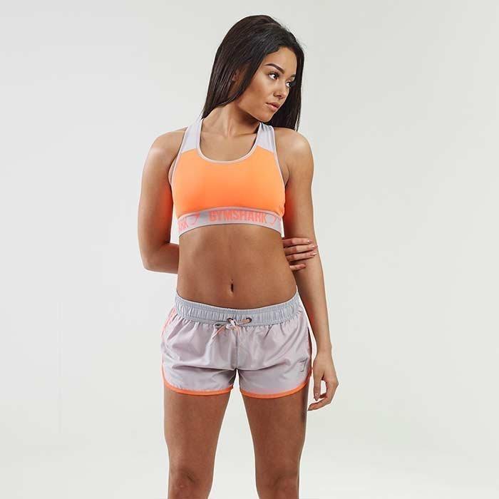 Gymshark Sprint Shorts Grey/Coral S