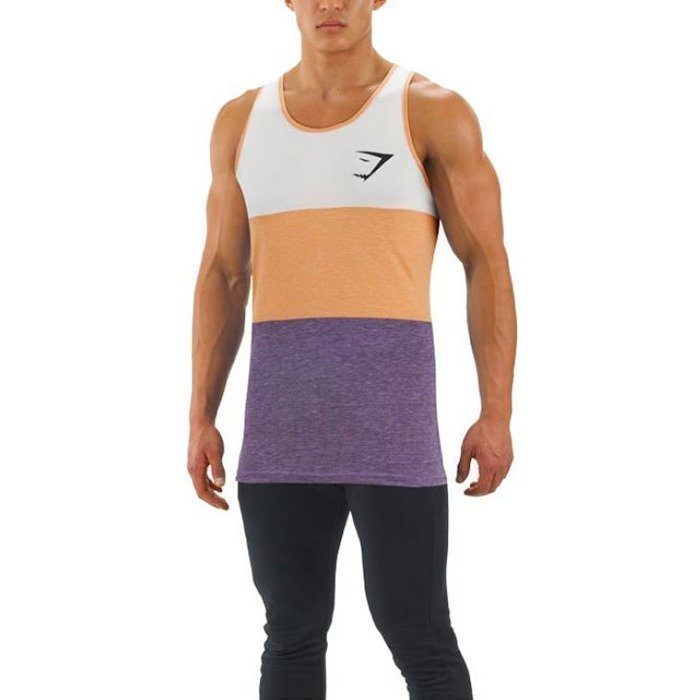 Gymshark Tri Panel Tank Orange/Purple S