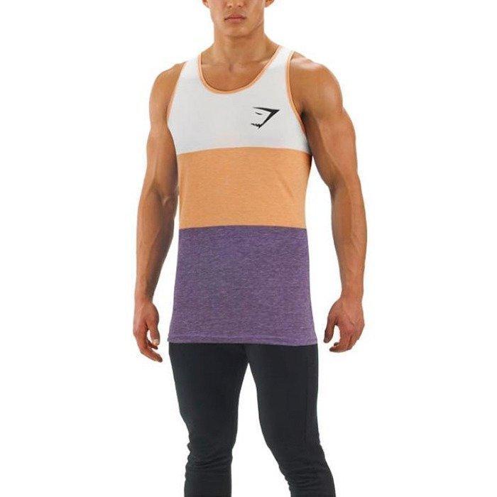 Gymshark Tri Panel Tank Orange/Purple XL