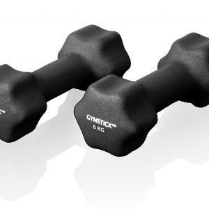 Gymstick Neoprene Käsipainot Musta 6 Kg 2 Kpl