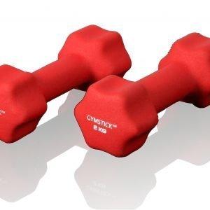 Gymstick Neoprene Käsipainot Punainen 2 Kg 2 Kpl