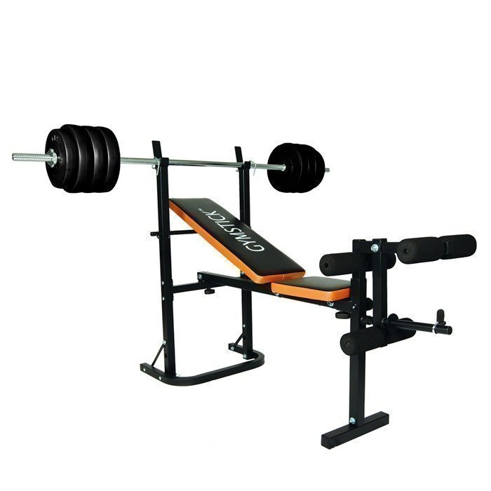 Gymstick Weight bench with 40 kg barbell set