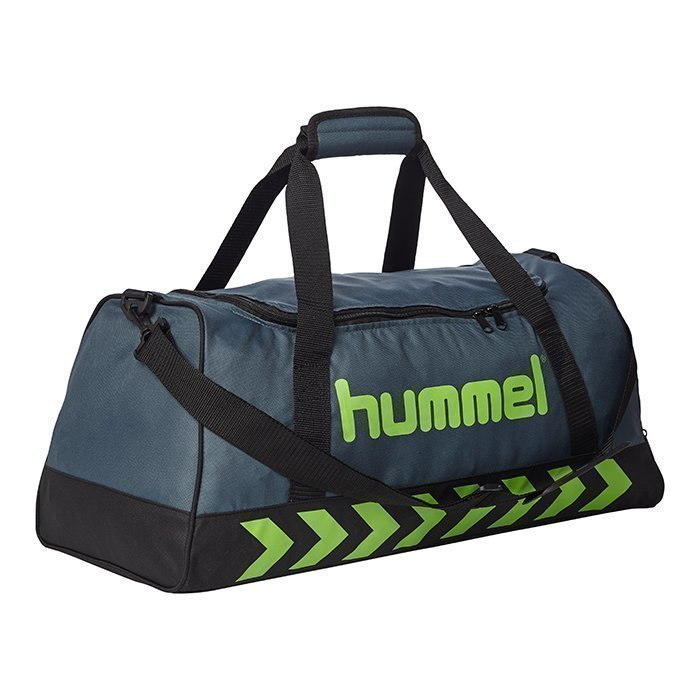Hummel Authentic Sports bag Dark Slate/Green Flash