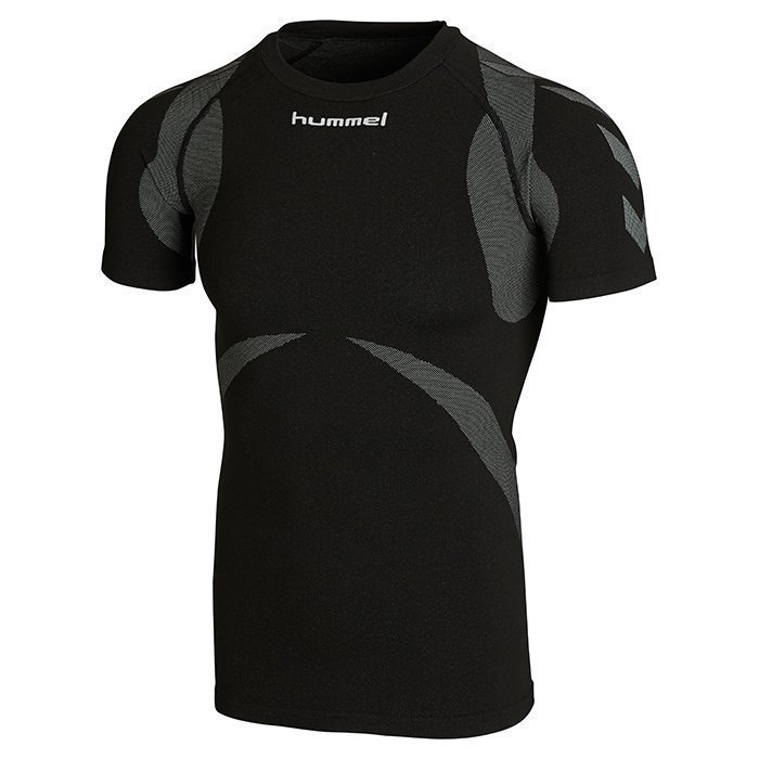 Hummel Baselayer Jersey Shortsleeve Black/Dark grey