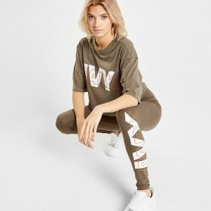 Ivy Park Layer Logo Leggings Khaki