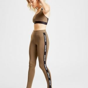 Ivy Park Logo Tape Tights Khaki / Black