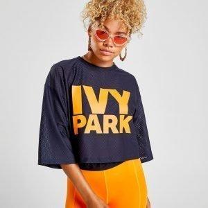 Ivy Park Mesh Logo T-Shirt Laivastonsininen