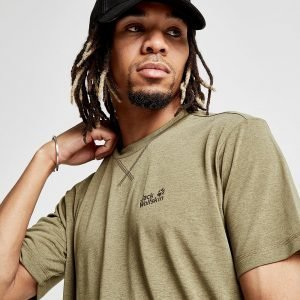 Jack Wolfskin Short Sleeve Core Tech T-Shirt Olive