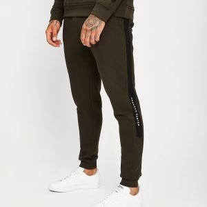 Jameson Carter Paint Stripe Track Pants Khaki