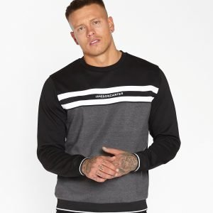 Jameson Carter Tape Chest Crew Sweatshirt Harmaa