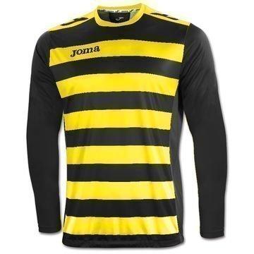 Joma Football Shirt Europa II L/S Black/Yellow