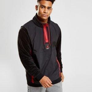 Jordan 1/4 Zip Hybrid Sherpa Sweatshirt Musta