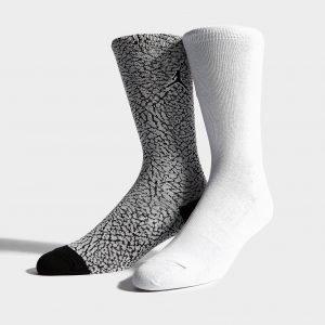 Jordan 2 Pack Elephant Socks Valkoinen