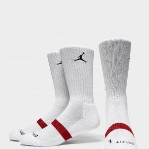 Jordan 3 Pack Crew Socks Valkoinen