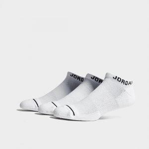 Jordan 3 Pack Dri-Fit No-Show Socks Valkoinen